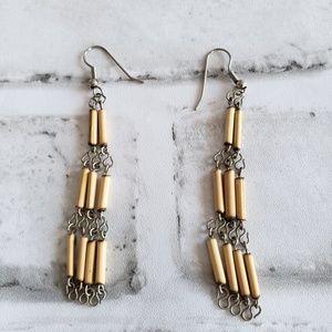 Bohemian/hippie earrings bamboo dangle earrings